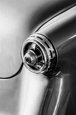 Photograph - 1954 Ford Crestline Tail Light -0191bw by Jill Reger