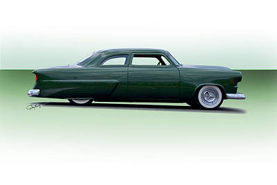 Ford Customline Photograph - 1954 Ford Customline Coupe by Dave Koontz