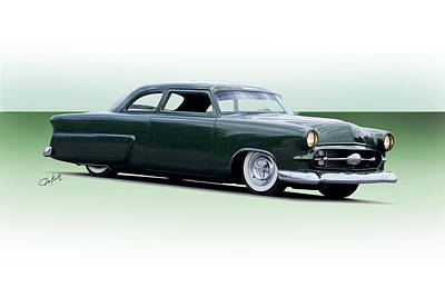 Ford Customline Photograph - 1954 Ford Customline Coupe I by Dave Koontz