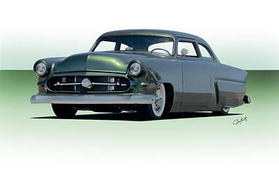 Ford Customline Photograph - 1954 Ford Customline Coupe II by Dave Koontz