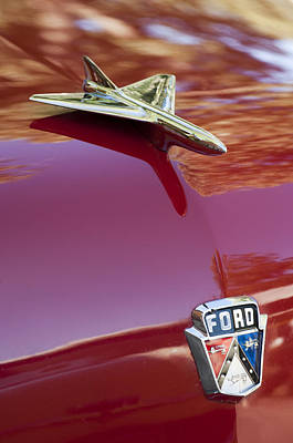 Photograph - 1954 Ford Hood Ornament 2 by Jill Reger