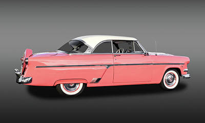 1954 Ford Victoria Crestline V8  -  1954fordvicfa9358 Art Print by Frank J Benz