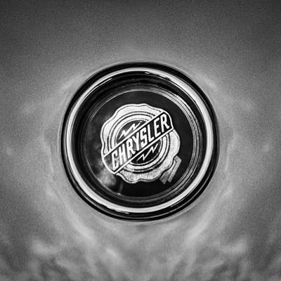 Photograph - 1954 Ghia Gs 1 Coupe Emblem -0850bw by Jill Reger