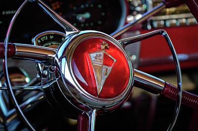 Automotive Drawing - 1954 Hudson Steering Wheel by Jill Reger