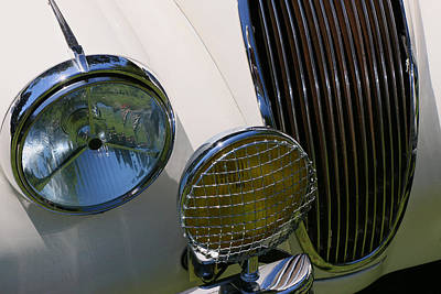 Photograph - 1954 Jaguar X K 120 by Allen Beatty