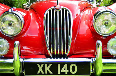 Photograph - 1954 Jaguar X K 140 by Allen Beatty