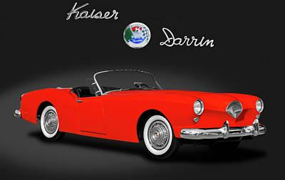 Photograph - 1954 Kaiser Darrin 161 Cabriolet Roadster  -  1954kaiserdarrin161darklogo183967 by Frank J Benz