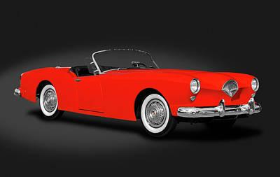 Photograph - 1954 Kaiser Darrin 161 Cabriolet Roadster  -  1954kaiserdarrincabdark183967 by Frank J Benz