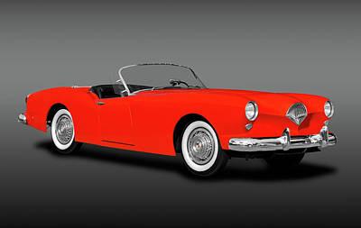 Photograph - 1954 Kaiser Darrin 161 Cabriolet Roadster  -  1954kaiserdarrincabrdstrfa183967 by Frank J Benz