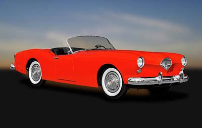 Photograph - 1954 Kaiser Darrin 161 Cabriolet Roadster  -  1954kaiserdarrincabrioletrdstr183967 by Frank J Benz