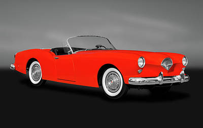 Photograph - 1954 Kaiser Darrin 161 Cabriolet Roadster  -  1954kaiserdarrinroadstergry183967 by Frank J Benz