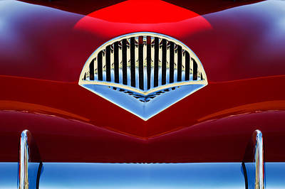 Red Abstract Photograph - 1954 Kaiser Darrin Grille by Jill Reger