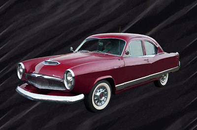 Painting - 1954 Kaiser Special Digital Oil by Chris Flees
