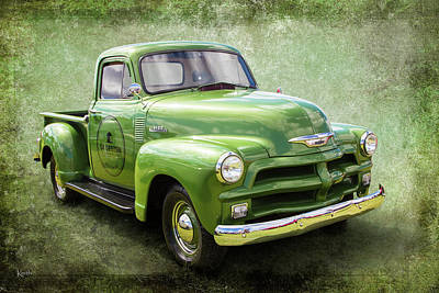 Chev Pickup Photograph - 1954 by Keith Hawley