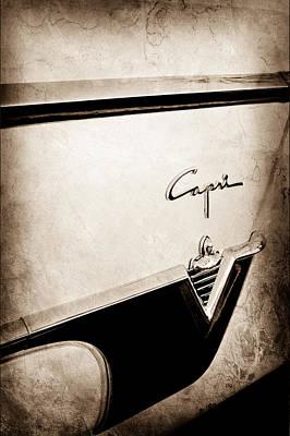 Lincoln Photograph - 1954 Lincoln Capri Convertible Emblem-0027s by Jill Reger