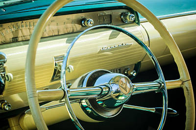 Photograph - 1954 Lincoln Capri Steering Wheel -0150c by Jill Reger