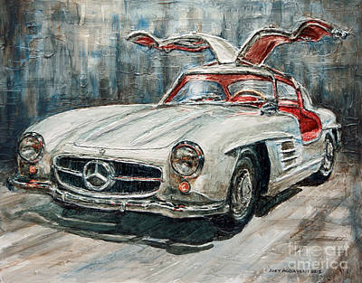 1954 Mercedes Benz 300 Sl Gullwing Art Print