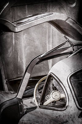 Mercedes 300sl Gullwing Photograph - 1954 Mercedes-benz 300sl Gullwing Steering Wheel -1653ac by Jill Reger