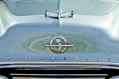 1954 Photograph - 1954 Oldsmobile Super 88 Hood Ornament 3 by Jill Reger