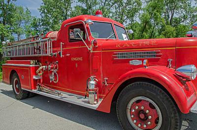 Photograph - 1954 Pirsch Fire Engine by Susan  McMenamin