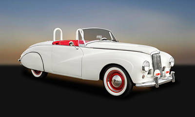 Photograph - 1954 Sunbeam Supreme Mk IIi Drophead Coupe Convertible  -  54sunbeamsupreme9398 by Frank J Benz