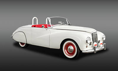 Photograph - 1954 Sunbeam Supreme Mk IIi Drophead Coupe Convertible  -  54sunbeamsupremefa9398 by Frank J Benz