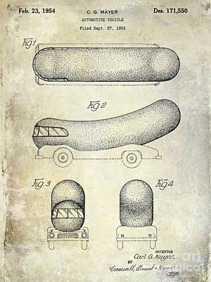 Hamburger Photograph - 1954 Weiner Mobile Patent by Jon Neidert