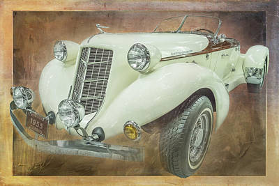 Digital Art - 1955 Auburn Cabrio by Ramona Murdock
