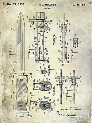 1955 Bayonet Patent Art Print