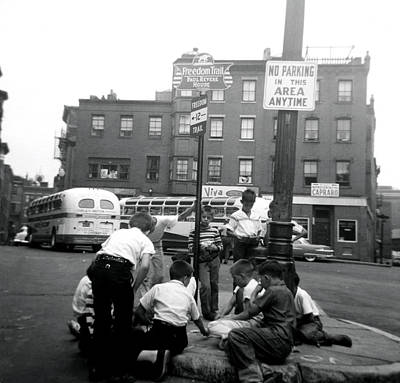 Photograph - 1955 Boys Of The North End Boston by Historic Image