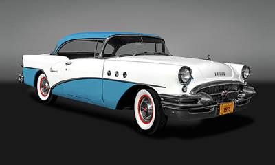 Photograph - 1955 Buick Special 2 Door Hardtop  -  1955buickspecialhdtpgry173609 by Frank J Benz