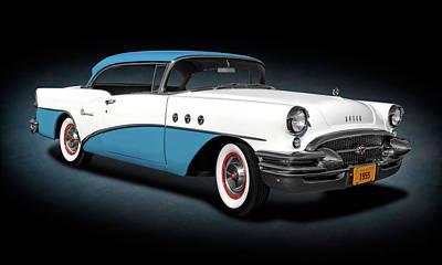 Photograph - 1955 Buick Special 2 Door Hardtop  -  1955buickspecialhdtpspttext173609 by Frank J Benz