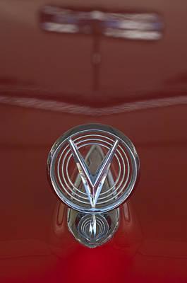1955 Buick Special Convertible Hood Ornament Art Print by Jill Reger