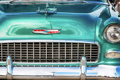 Photograph - 1955 Cheverolet Bel Air 112517 by Rospotte Photography