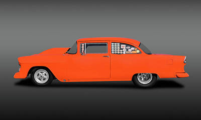 Photograph - 1955 Chevrolet 150 2 Door Post Sedan  -  1955chevy150postsedanfa173542 by Frank J Benz