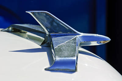 Hoodie Photograph - 1955 Chevrolet 3100 Hood Ornament 2 by Jill Reger