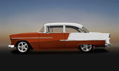 Photograph - 1955 Chevrolet Bel Air 2 Door Post Sedan  -  1955chevrolet2doorpost140570 by Frank J Benz