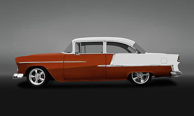 Photograph - 1955 Chevrolet Bel Air 2 Door Post Sedan  -  1955chevy2doorpostgry140570 by Frank J Benz