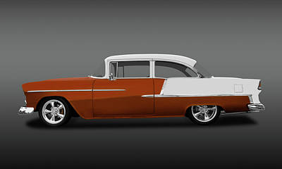 Photograph - 1955 Chevrolet Bel Air 2 Door Post Sedan  -  1955chevy2doorpostsedfa140570 by Frank J Benz