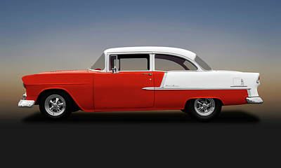 Photograph - 1955 Chevrolet Bel Air 2 Door Post Sedan  -   1955chevybelair2doorpost138168 by Frank J Benz