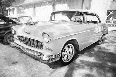 Photograph - 1955 Chevrolet Bel Air Bw 001 by Rich Franco
