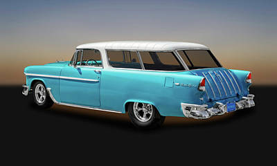 Photograph - 1955 Chevrolet Bel Air Nomad Wagon  -  55chevnomad9424 by Frank J Benz