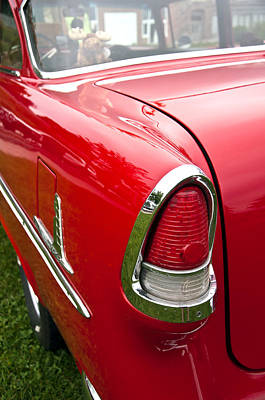 Photograph - 1955 Chevrolet Bel Air Tail Light by Glenn Gordon