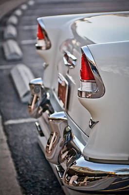 1955 Photograph - 1955 Chevrolet Belair Tail Lights by Jill Reger