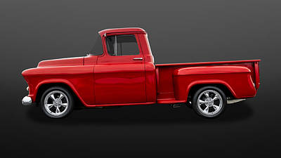 Chevy C10 Photograph - 1955 Chevrolet C-10  - 55chc10205 by Frank J Benz