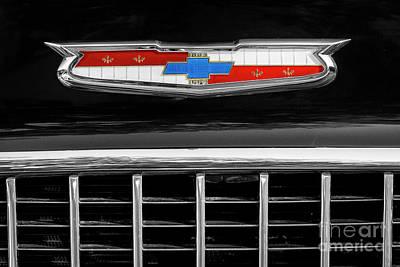 Photograph - 1955 Chevrolet Hood Emblem by Dennis Hedberg