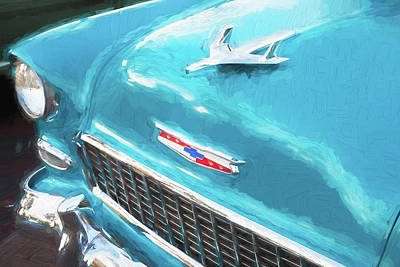 Photograph - 1955 Chevrolet Logo Hood Ornament  by Rich Franco