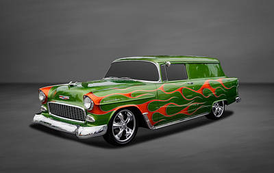 Photograph - 1955 Chevrolet Sedan Delivery Wagon by Frank J Benz