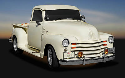 1955 Chevrolet Series 3100 Pickup Truck   -  1955chevy3100pickuptrk172098 Art Print