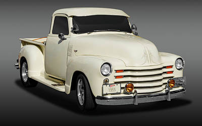 1955 Chevrolet Series 3100 Pickup Truck   -  1955chevytrk3100fa172098 Art Print
